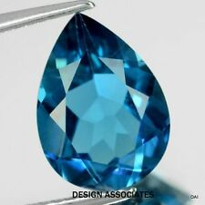 LONDON BLUE TOPAZ NATURAL  9X7  MM PEAR CUT  AAA