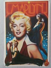 MARILYN MONROE large POSTCARD 80s art card by A. Montecroci