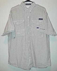 Columbia-PFG-Mens-Size-L-Super-Bonehead-Omni-Shade-Vented-Fishing-Shirt