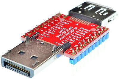 mini Displayport Female to mini Displayport Male pass-through adapter breakout