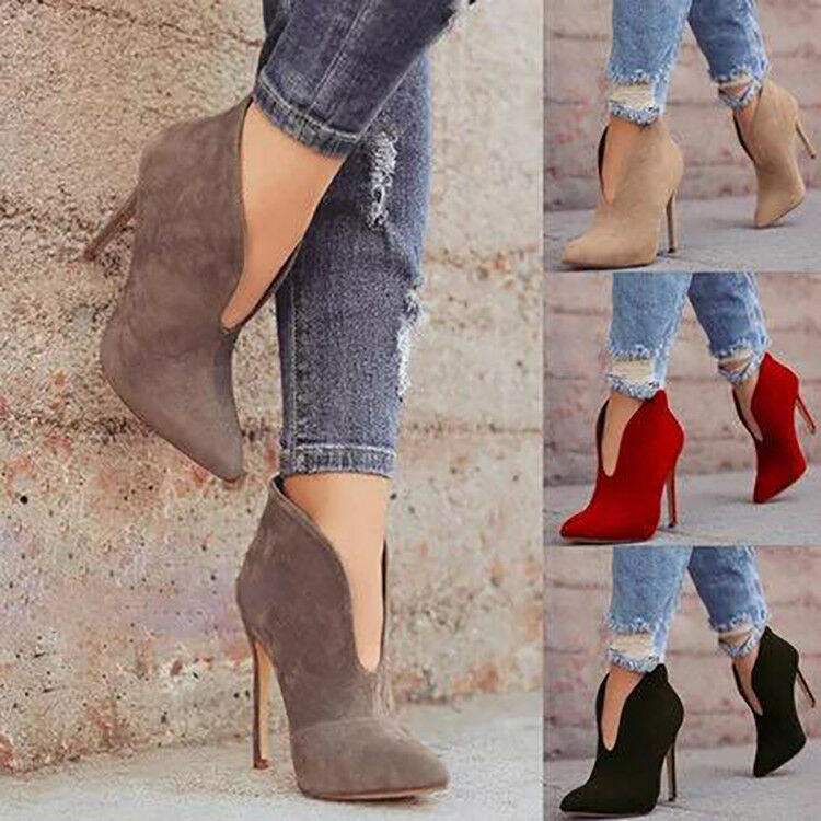 Original Intention Sexy Women Ankle Boots Slip On Heels shoes Women Plus Size