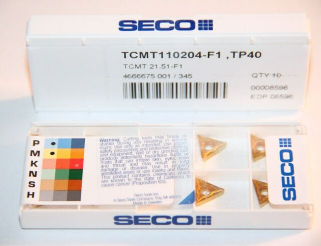 CCMT 21.51 F1 2151 TP2500 SECO *** 10 INSERTS *** 1 FACTORY PACK ***