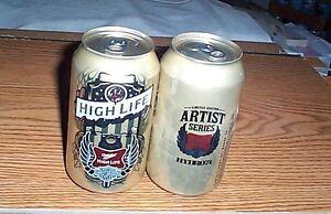 One 16oz..Miller High Life.Harley Davidson.Straw Castle.Artist Series.