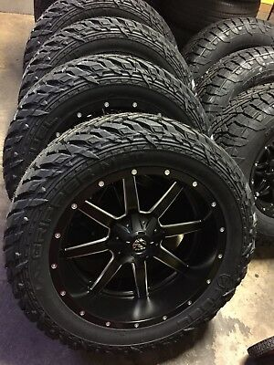"""22x12 Fuel Maverick D538 Black Wheel Tire Package 33"""" MT ..."""