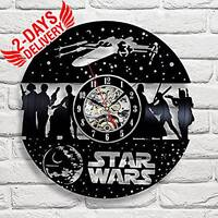 Star Wars Death Star Exclusive Wall Clock Made Of Vinyl Record Gift Decor Usa