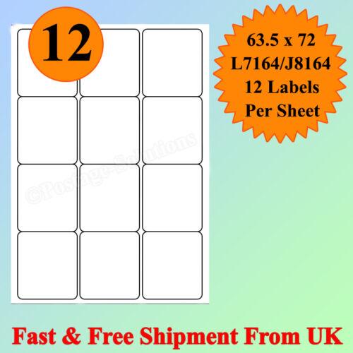 A4 tamaño 12 Por Hoja Etiquetas De Dirección Láser de Inyección De Tinta Autoadhesivas barato de buena calidad