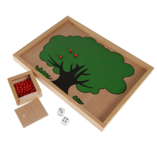Apple Tree Game Board Wooden Craft Montessori Early Educational Material