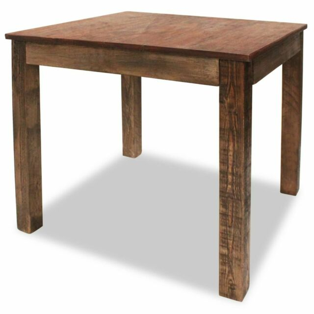 Vidaxl Solid Reclaimed Wood Dining Table 32 3 Rustic Room Furniture For Online