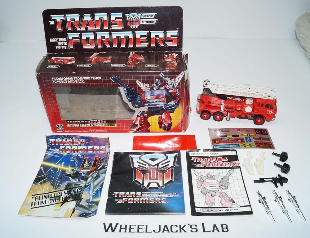 Inferno MIB 100% Complete B 1985 Vintage Hasbro Action Figure G1 Transformers