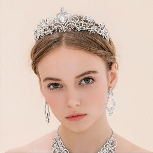 Wedding Bridal Full Crystal Rhinestone Queen Crown Hair Accessory Tiara LH