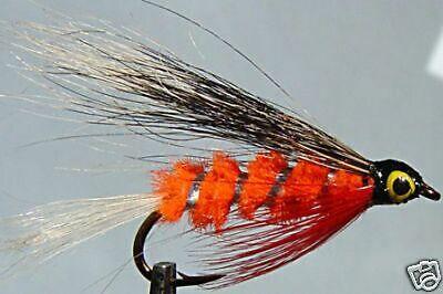 1 x Mouche de peche Streamer Blob Orange H8//10//12 fly tying truite trout