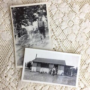 Antique Photo Men Brothers William Jim Franklin 1918 Homestead Walker California