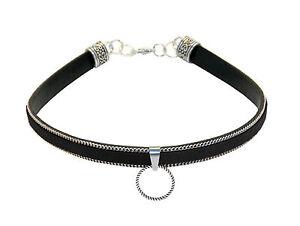 Halsband-TAYGETA-BLACK-Collar-Necklace-SM-BDSM-Halskette-Ring-der-O-Fetish-70008
