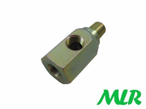 Universal Öldruckanzeige Adapter T-Stück For 1//8NPT Messgeräte//Versender
