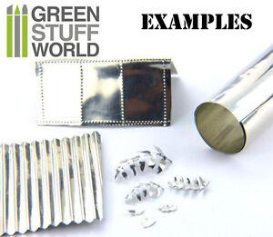 Embossage Gaufrage bosselage Papier Étain 10x45cm Feuille de métal flexible