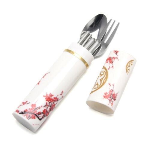 Travel Stainless Steel Fork Chopsticks Boxed Spoon Set Portable Cutlery