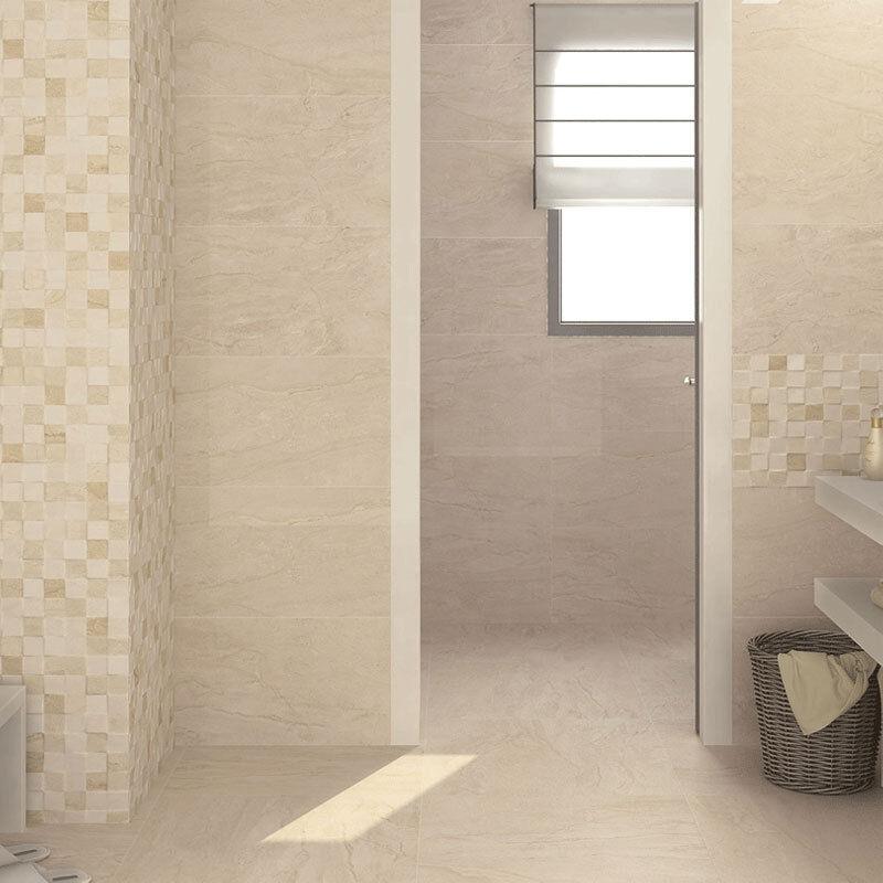 High Gloss Cuccino Marble Effect Ceramic Bathroom Kitchen Wall Tiles 33 3x55