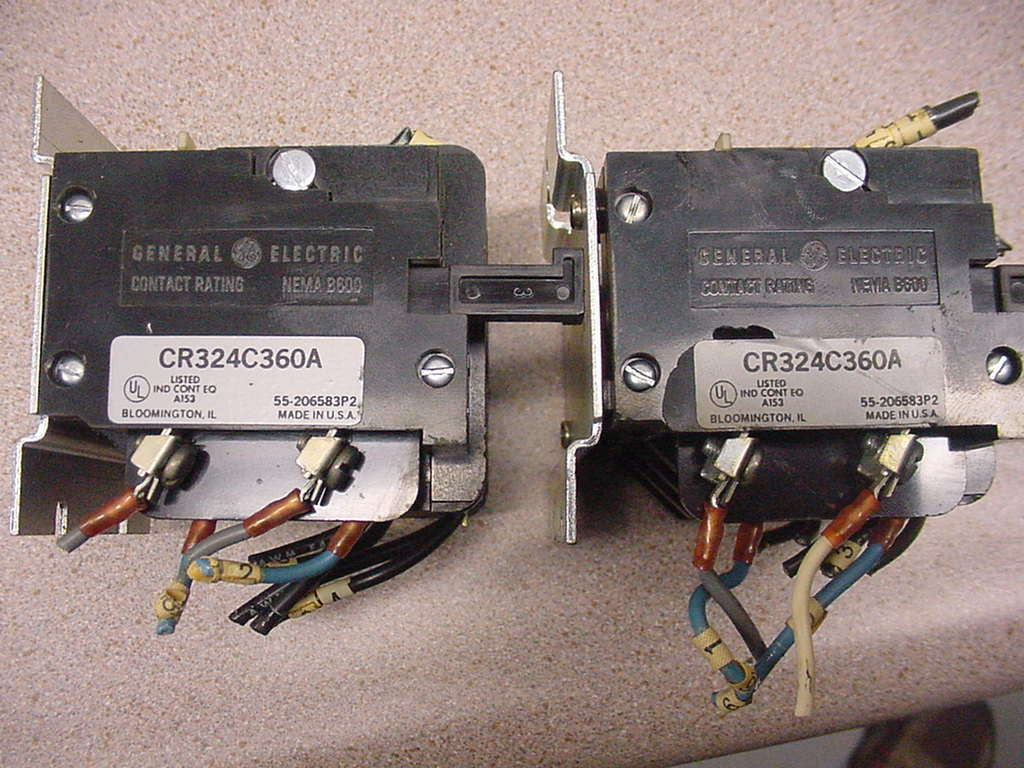 General Electric GE CR324C360A Motor Starter Overload Relays lot of 2