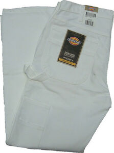 30 Knee Dickies Jean Peintres White Double W Charpentier 2053wh vwxqA8