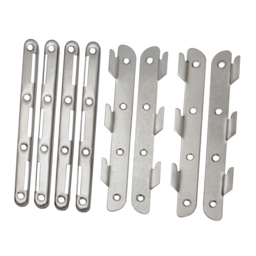 Edelstahl Bettverbinder 190mm Möbelverbinder Couchverbinder Metallverbinder