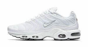 Nike Air Max Plus Mens 604133 139 White Black Cool Grey Running Shoes Size 9