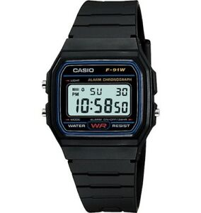 Nuevo-Genuino-Original-Casio-F-91w-Alarma-Cronografo-Classic-Digital-Retro-Watch