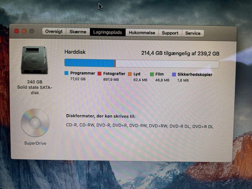 MacBook, 2 GHz, 4 GB ram