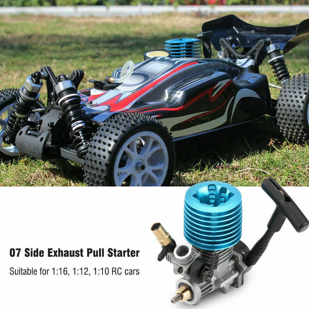 RC Nitro Engine 1.14CC 07 Side Exhaust Hand Pull For 1:16 1:12 1:10 Car Part ❤.❤