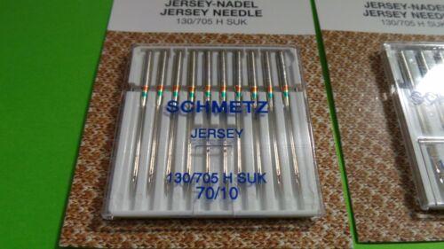 20 Nähmaschinennadeln SCHMETZ Jersey Nadel 130//705 H Stärke 70 und 100