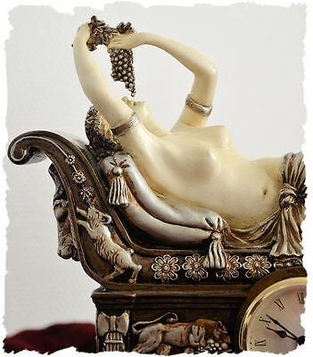 Figural mantel clock Bacchante Recamiere empire