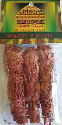 3 Dragon's Blood Ritual Smudge Sticks 3 pack Wiccan Pagan Witchcraft Altar DR
