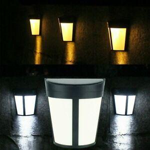 Led Outdoor Garden Fence Solar Power Light Waterproof Wall Lamp Modern Lights Ebay