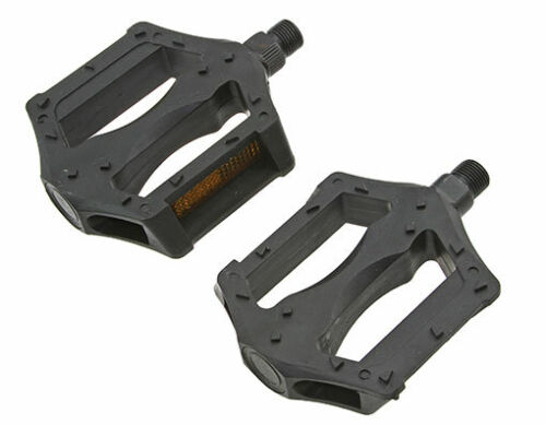 """New Bicycle PVC Pedals 506 1//2/"""" or 9//16/"""" Black"""