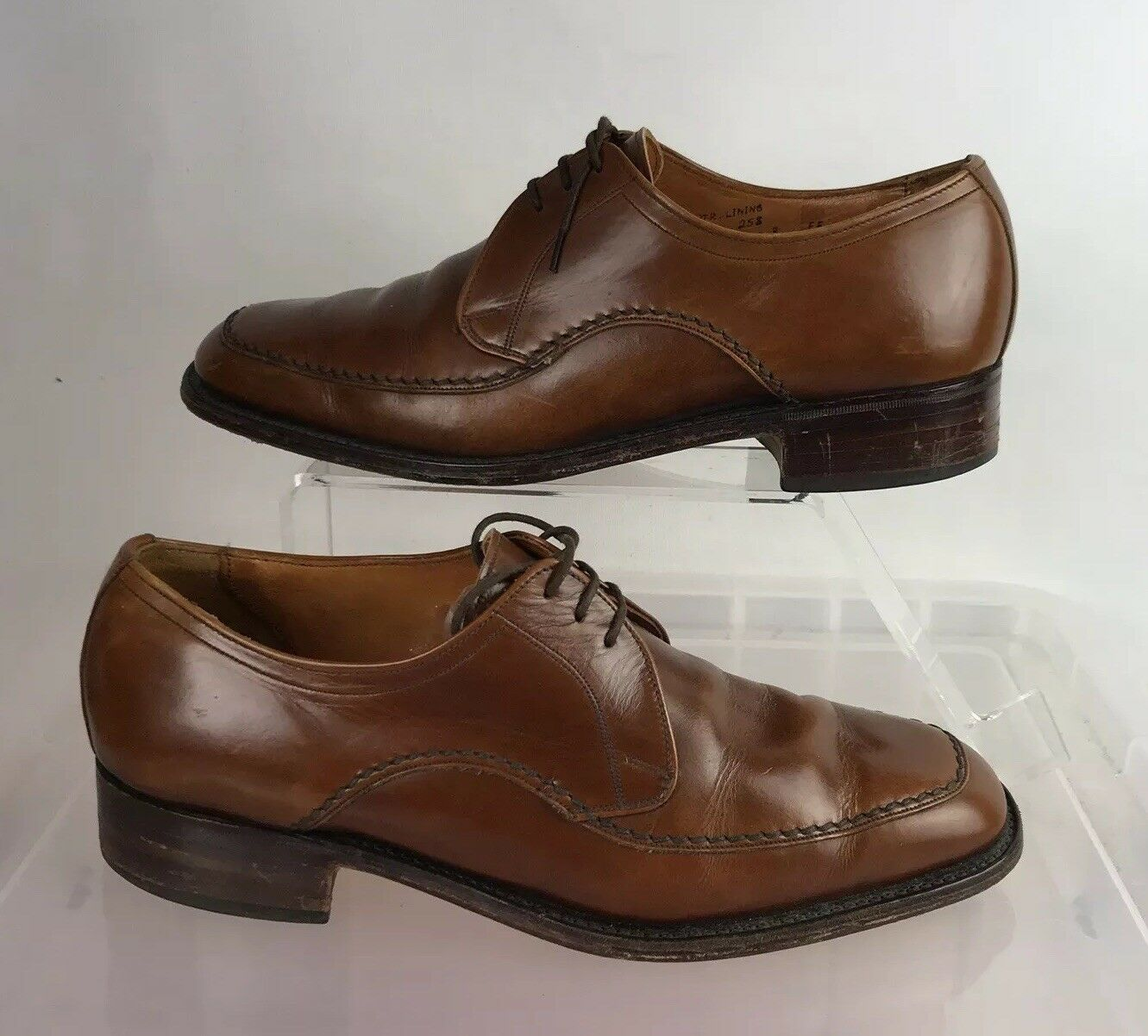LOAKE Mens Size Vintage Leather Tan Formal shoes
