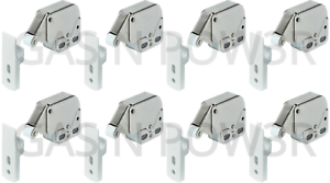 Push To Open Mini Spring Catches Automatic Cabinet Caravan Door Latches Packs x8