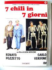 Dvd 7 chili in 7 giorni con Carlo Verdone e Renato Pozzetto 1986 Usato