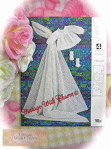 Vintage-Knitting-Pattern-Baby-039-s-034-Simply-Perfect-034-Shawl-Coat-amp-Bootees-JUST-1-79