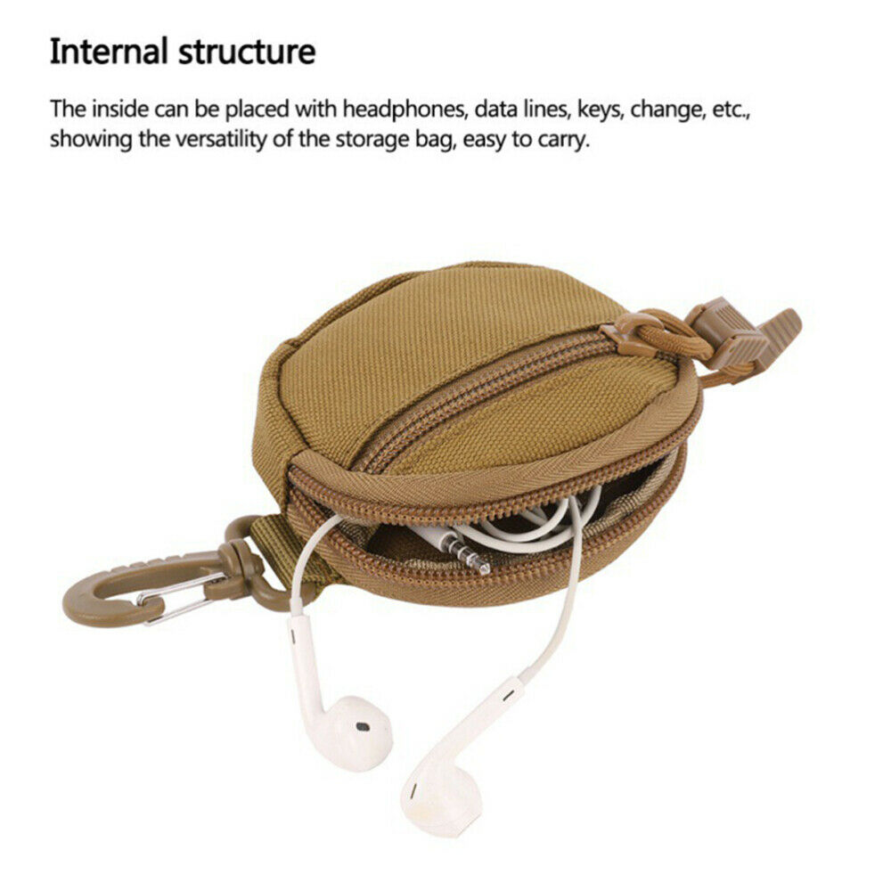 1pc Key Pouch Portable Convenient Key Storage Bag for Outside Outdoor