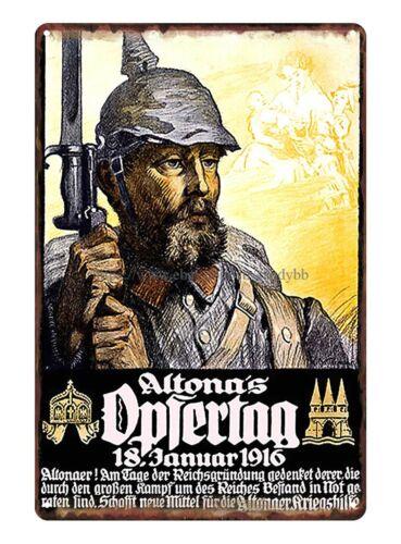 world war one German propaganda metal tin sign plaque wall hanging