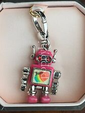 BRAND NEW! JUICY COUTURE PINK ROBOT BRACELET CHARM IN TAGGED BOX