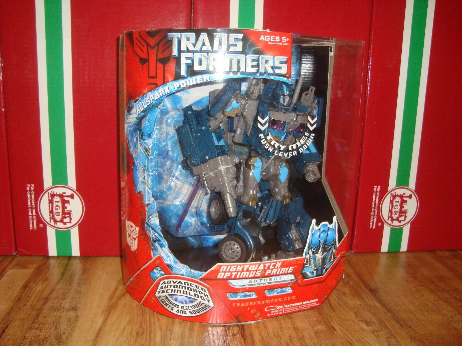 HASBRO TRANSFORMERS NIGHTWATCH OPTIMUS PRIME MINT IN SEALED BOX