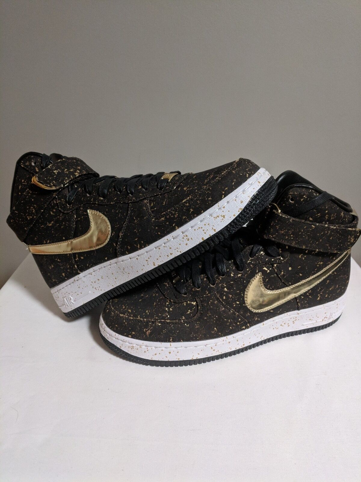 Nike Air Force 1 High Brown Cork Championship kd  SF iD 8.5 gold white mid low