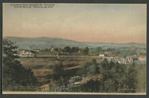 Copake-Falls-Columbia-Co-NY-c-1920-Hand-Colored-Postcard-LOOKING-NORTH-OVER-TO