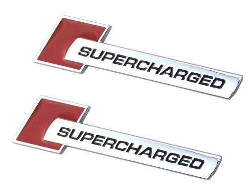 2x Supercharged Badge Emblems 3D Metal Decal for Audi TT A3 A4 A5 A6 A7 A8