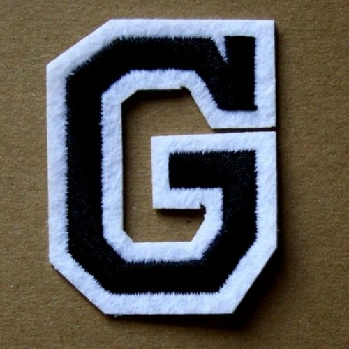 Letter G Patch Alphabet  Iron Sew On Applique Badge Motif