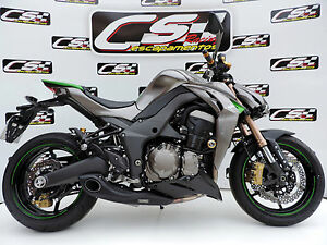 kawasaki z1000 2010 17 full exhaust system muffler. Black Bedroom Furniture Sets. Home Design Ideas