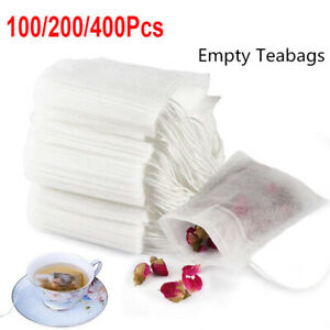 100*Extra Large Empty Teabags String Heat Seal Filter Paper Herb Loose Tea Bags