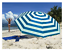 thumbnail 1 - Polyester Beach & Garden Parasol In 2 Bright Colours, 1.9mt High And 1.7mt Wide