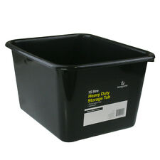 12 X 15L Black Heavy Duty Small Medium Plastic Storage Tubs Containers Bin  Tub