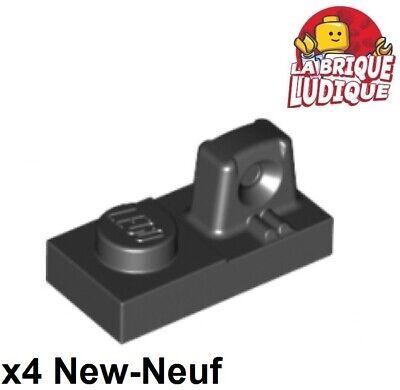 6 x LEGO 30383 Plaque Charnière noir black Hinge Plate 1x2 Locking NEUF NEW